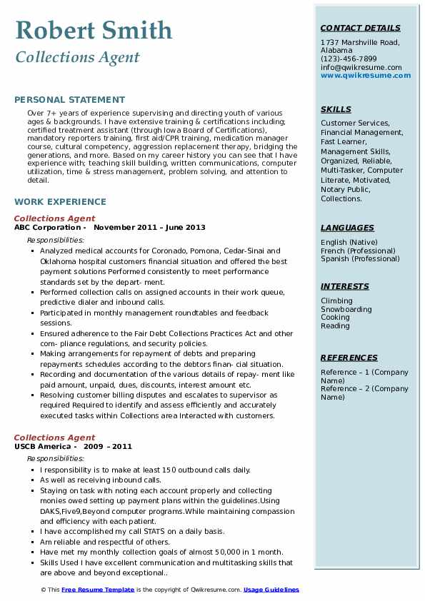 collections agent resume samples qwikresume collection sample pdf professional word study Resume Collection Agent Resume Sample