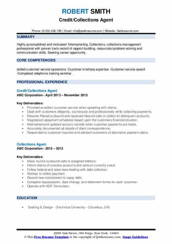collections agent resume samples qwikresume collection sample pdf seek tips eye catching Resume Collection Agent Resume Sample
