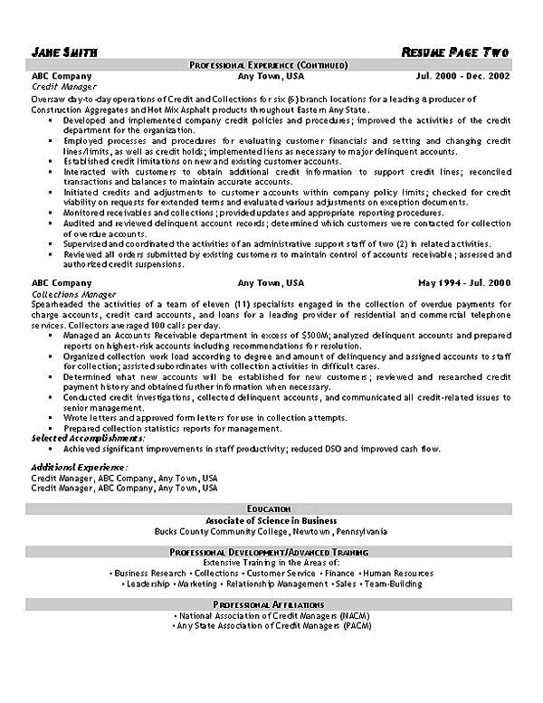 collections resume example collection agent sample collections2 another word for Resume Collection Agent Resume Sample