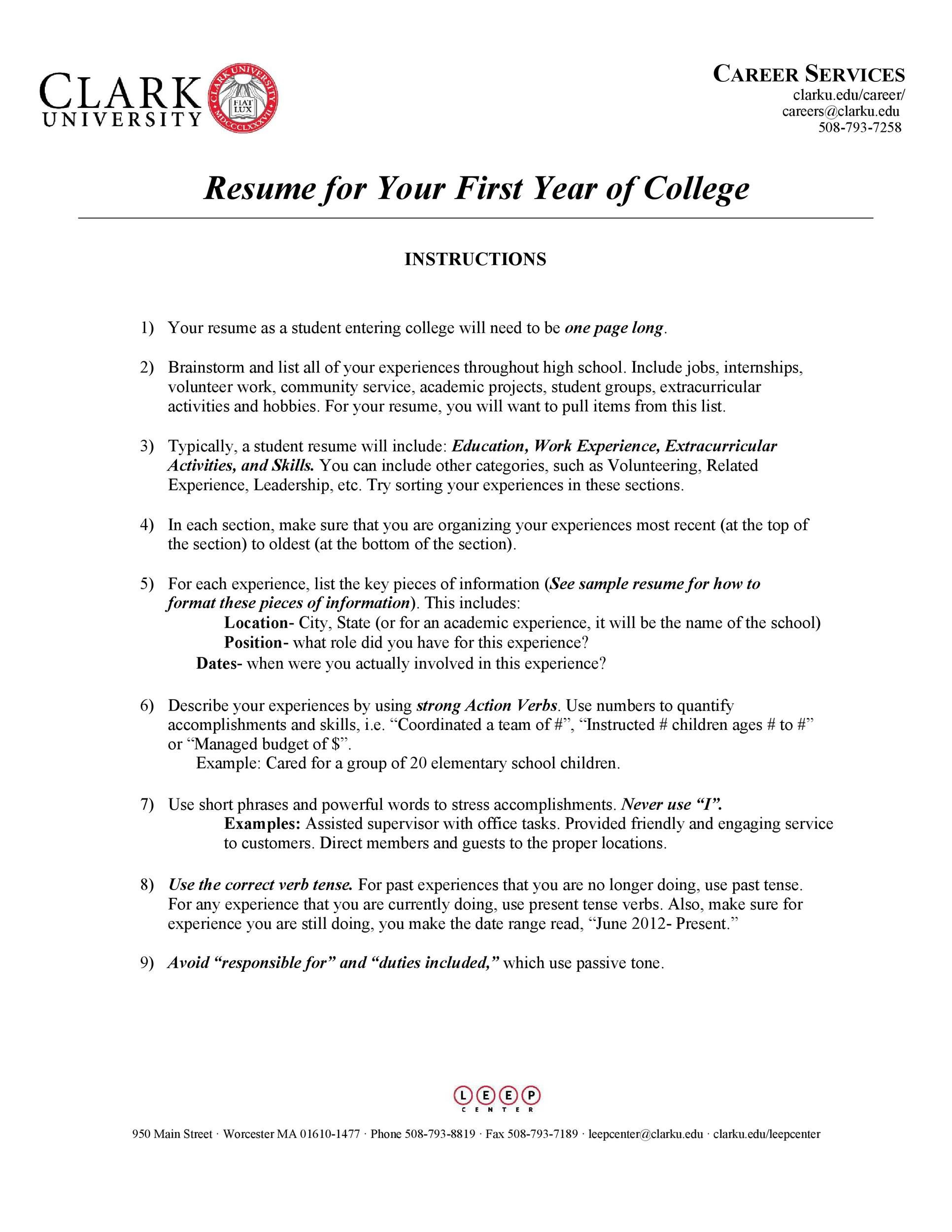 college student resume template addictionary for entering best high definition copy of Resume Resume For Entering College