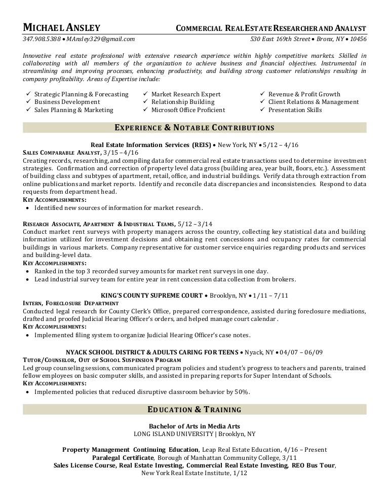 commercial estate researcher and analyst resume legal Resume Legal Researcher Resume