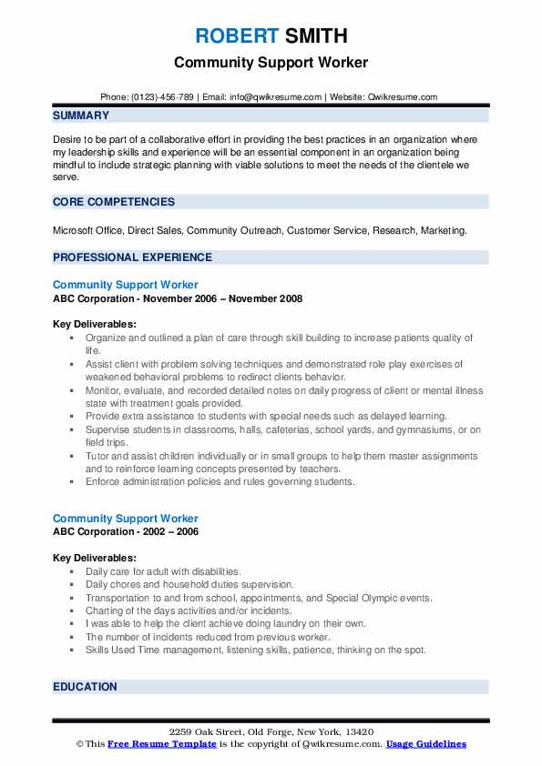 community support worker resume samples qwikresume template pdf chronological and Resume Community Support Worker Resume Template