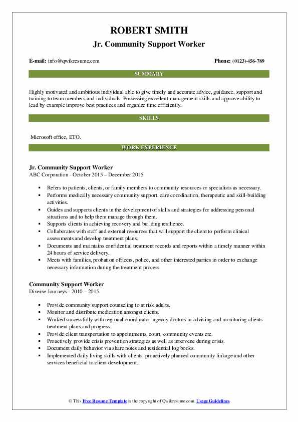 community support worker resume samples qwikresume template pdf performa experience with Resume Community Support Worker Resume Template