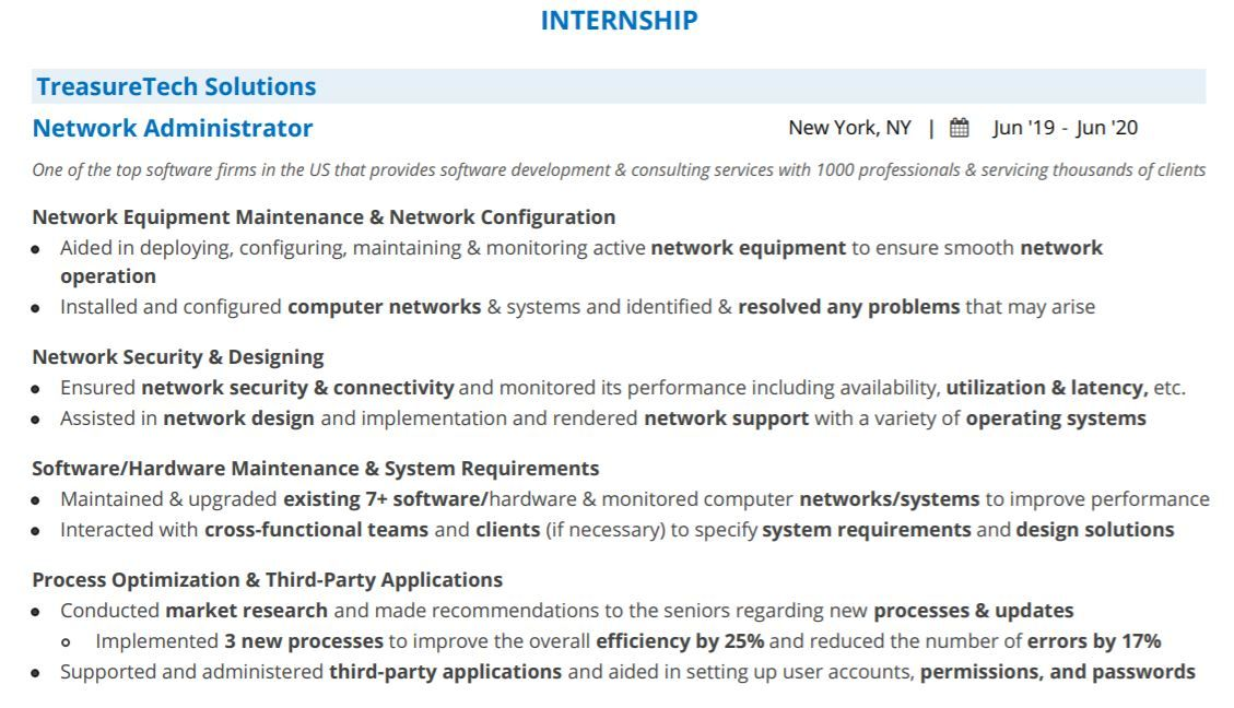 computer science internship resume blog with examples samples warehouse supervisor free Resume Computer Science Internship Resume