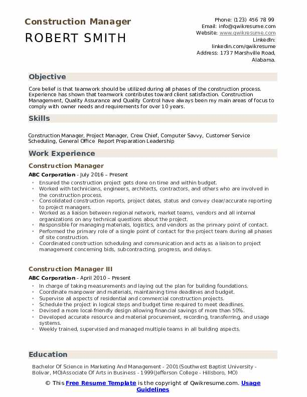 construction manager resume samples qwikresume objective examples pdf entry level front Resume Construction Manager Resume Objective Examples