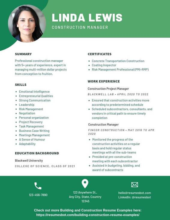 construction manager resume samples templates pdf resumes bot objective examples example Resume Construction Manager Resume Objective Examples