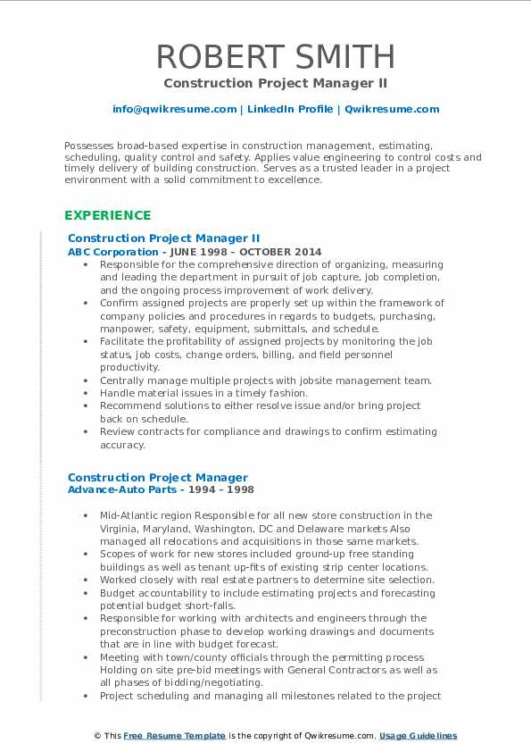 construction project manager resume samples qwikresume template microsoft word pdf first Resume Construction Manager Resume Template Microsoft Word