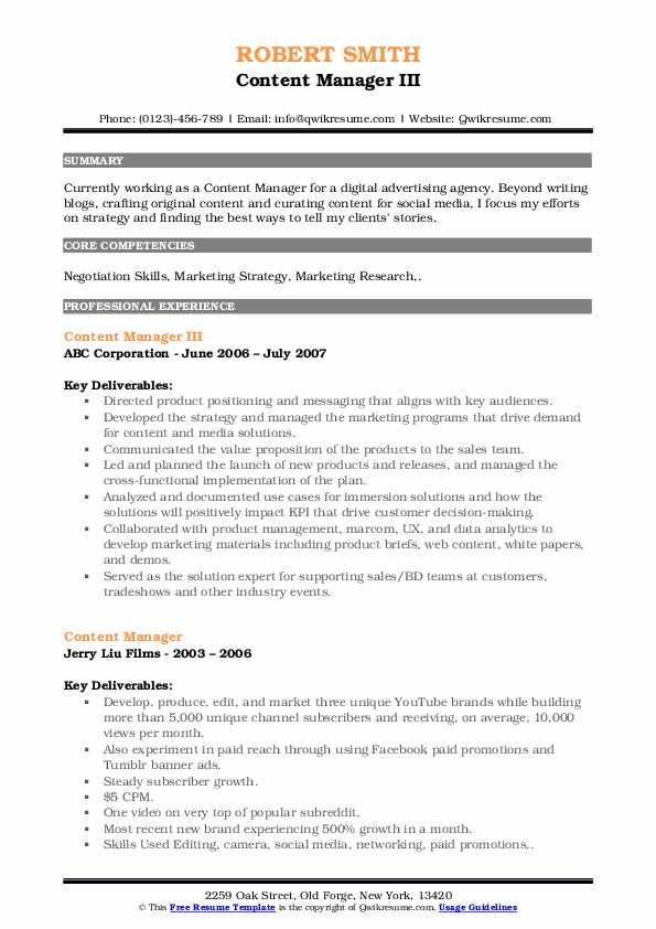 content manager resume samples qwikresume marketing pdf print double sided sap hci good Resume Content Marketing Resume