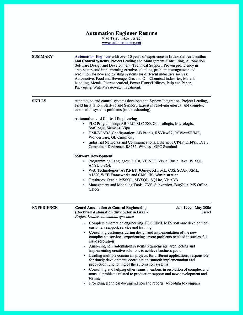 cool the perfect computer engineering resume sample to get job soon check more at http Resume Plc Programmer Resume Sample