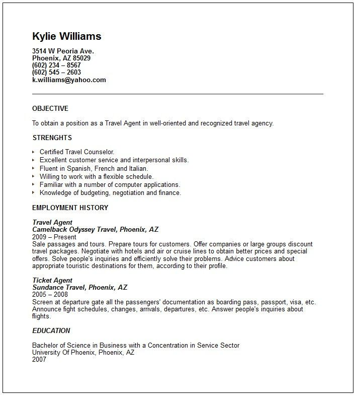 corporate travel agent resume and tourism examples acting maker linux cafeteria worker Resume Travel And Tourism Resume Examples