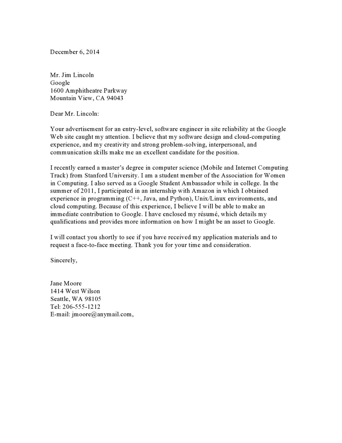 cover letter samples templates examples vault free sample for resume cletreinter09 Resume Free Sample Cover Letter For Resume