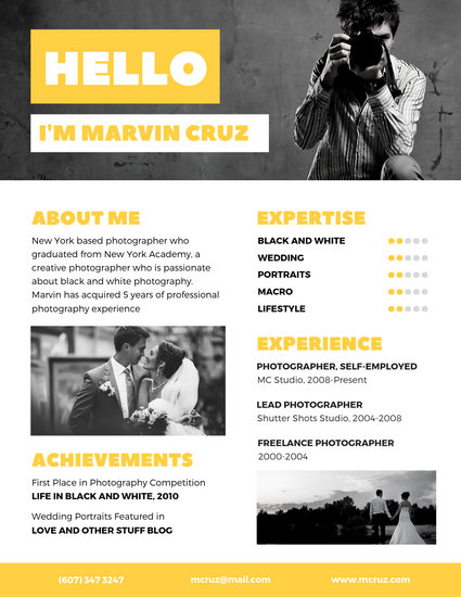 creative cv photographer best resume examples templates canva yellow madopuu5o0g win from Resume Creative Photographer Resume Templates