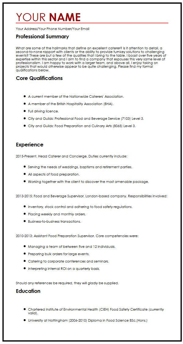 creative cv template myperfectcv examples of core competencies on resume example Resume Examples Of Core Competencies On Resume