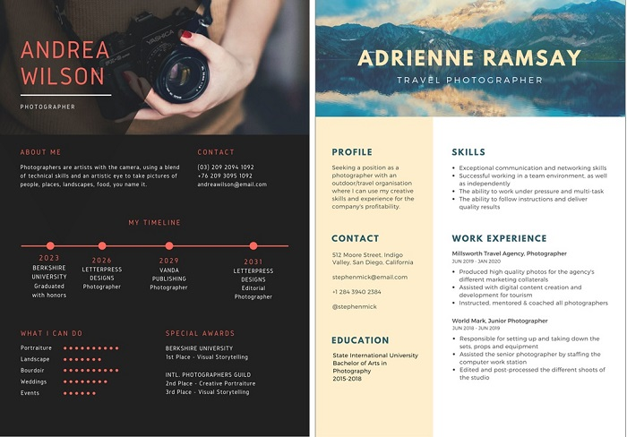 creative resume tips for photographers photographer templates photo contest insider Resume Creative Photographer Resume Templates