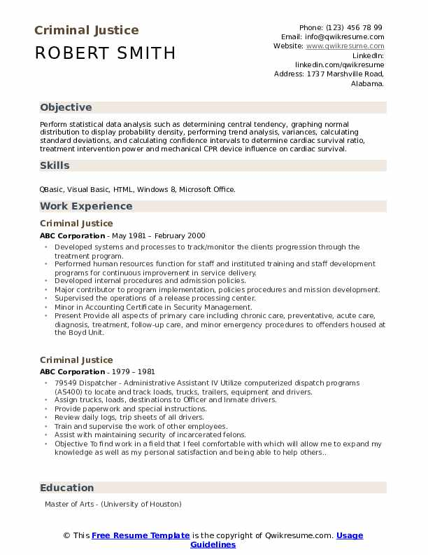 criminal justice resume samples qwikresume sample pdf french tutor army examples one Resume Criminal Justice Resume Sample