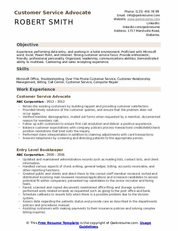 customer service advocate resume samples qwikresume objective of pdf sample for business Resume Objective Resume Samples Of Customer Service