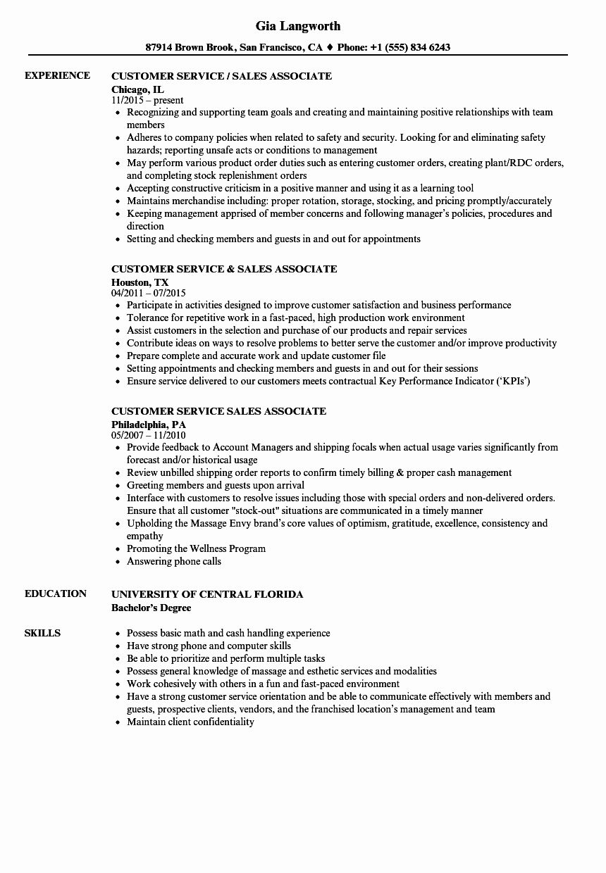 customer service associate resume new samples objective fancy examples rotimi the slick Resume Customer Service Associate Resume Objective