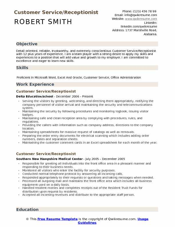 customer service receptionist resume samples qwikresume clerical assistant pdf document Resume Clerical Assistant Resume