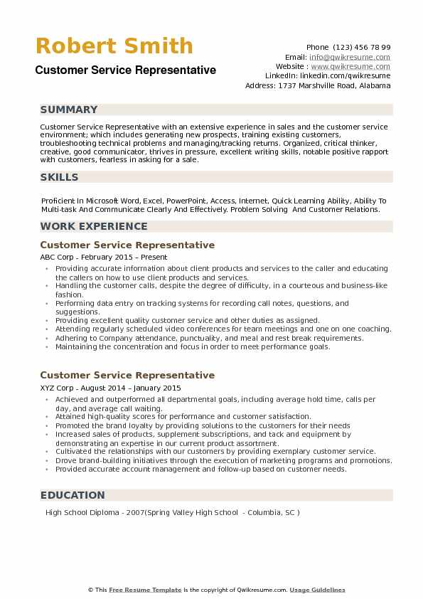 customer service representative resume samples qwikresume good summary for pdf voice and Resume Good Customer Service Summary For Resume