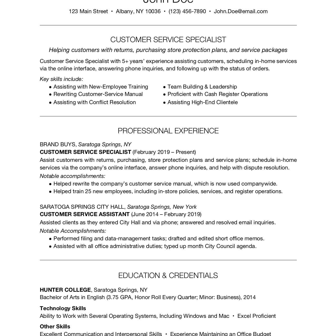 customer service resume examples and writing tips another word for on objective marketing Resume Another Word For Customer Service On Resume