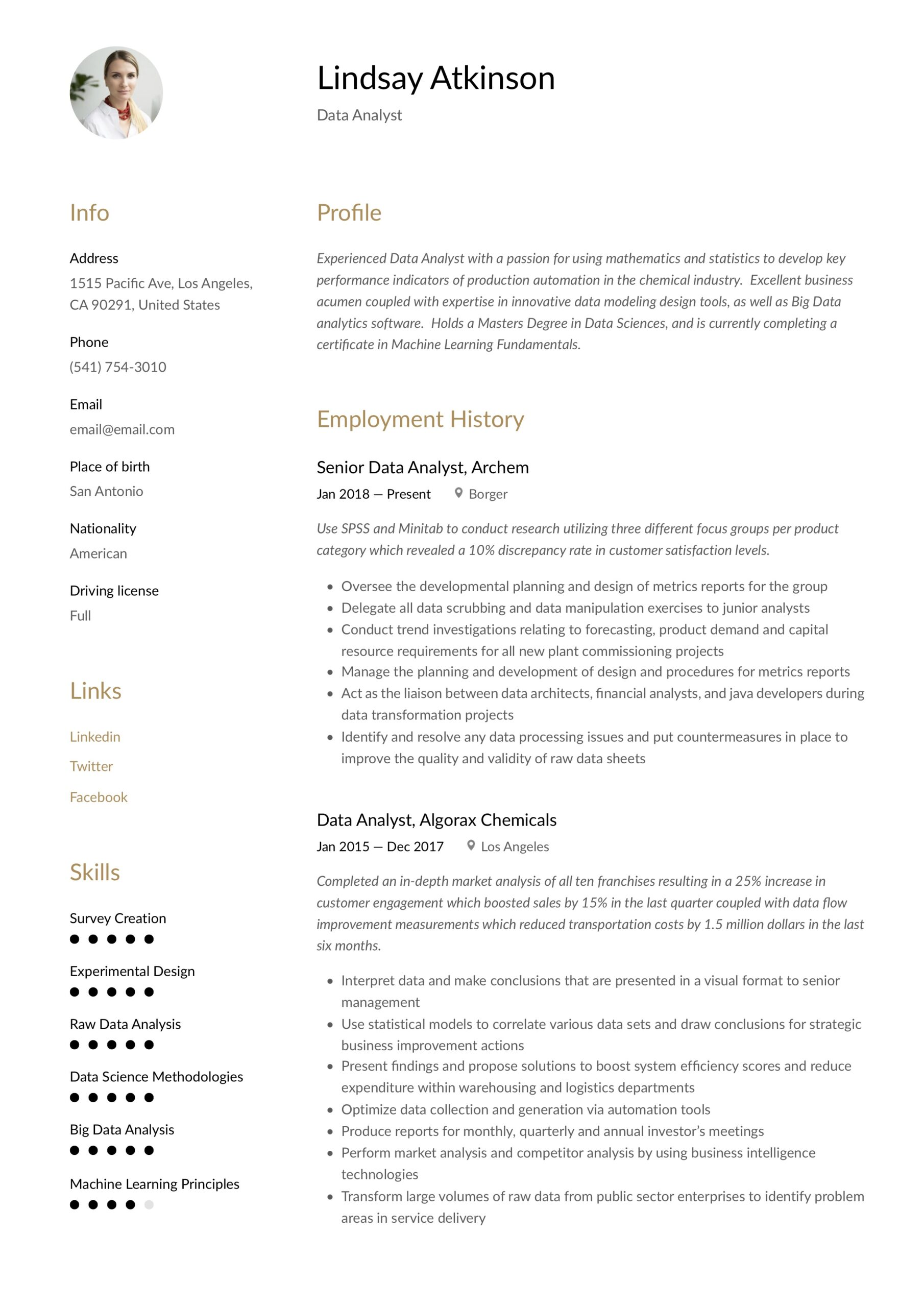 data analyst resume writing guide examples word pdf analysis experience network design Resume Data Analysis Experience Resume