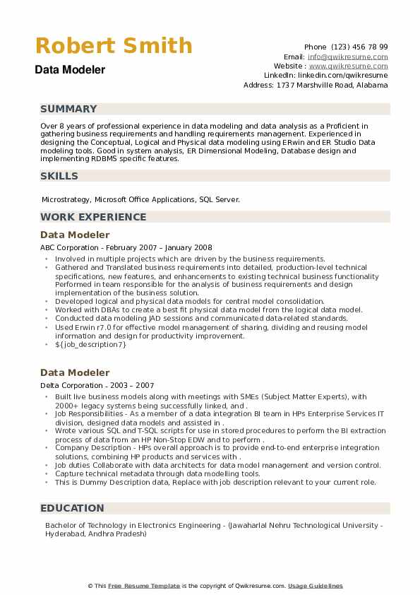 data modeler resume samples qwikresume modeling points pdf free software nice format Resume Data Modeling Resume Points