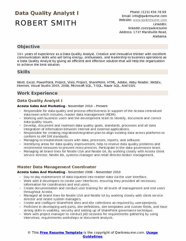 data quality analyst resume samples qwikresume healthcare pdf of government employee Resume Healthcare Quality Analyst Resume