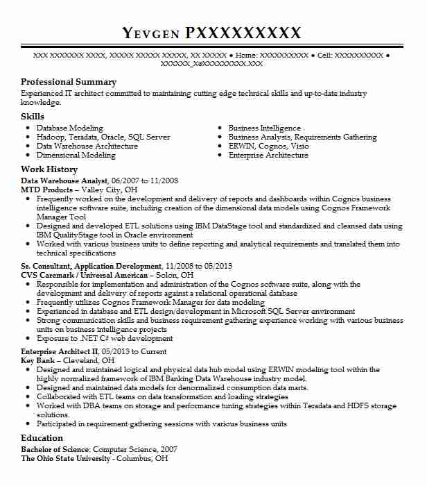 data warehouse analyst resume example resumes livecareer objective police writing Resume Warehouse Resume Objective