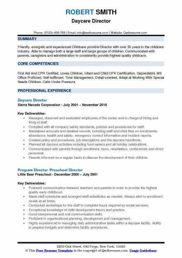 daycare director resume samples qwikresume child care pdf free search for recruiters Resume Child Care Director Resume