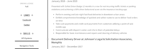 delivery driver resume writing guide examples fedex example 600x200 font pairing for Resume Fedex Driver Resume Example