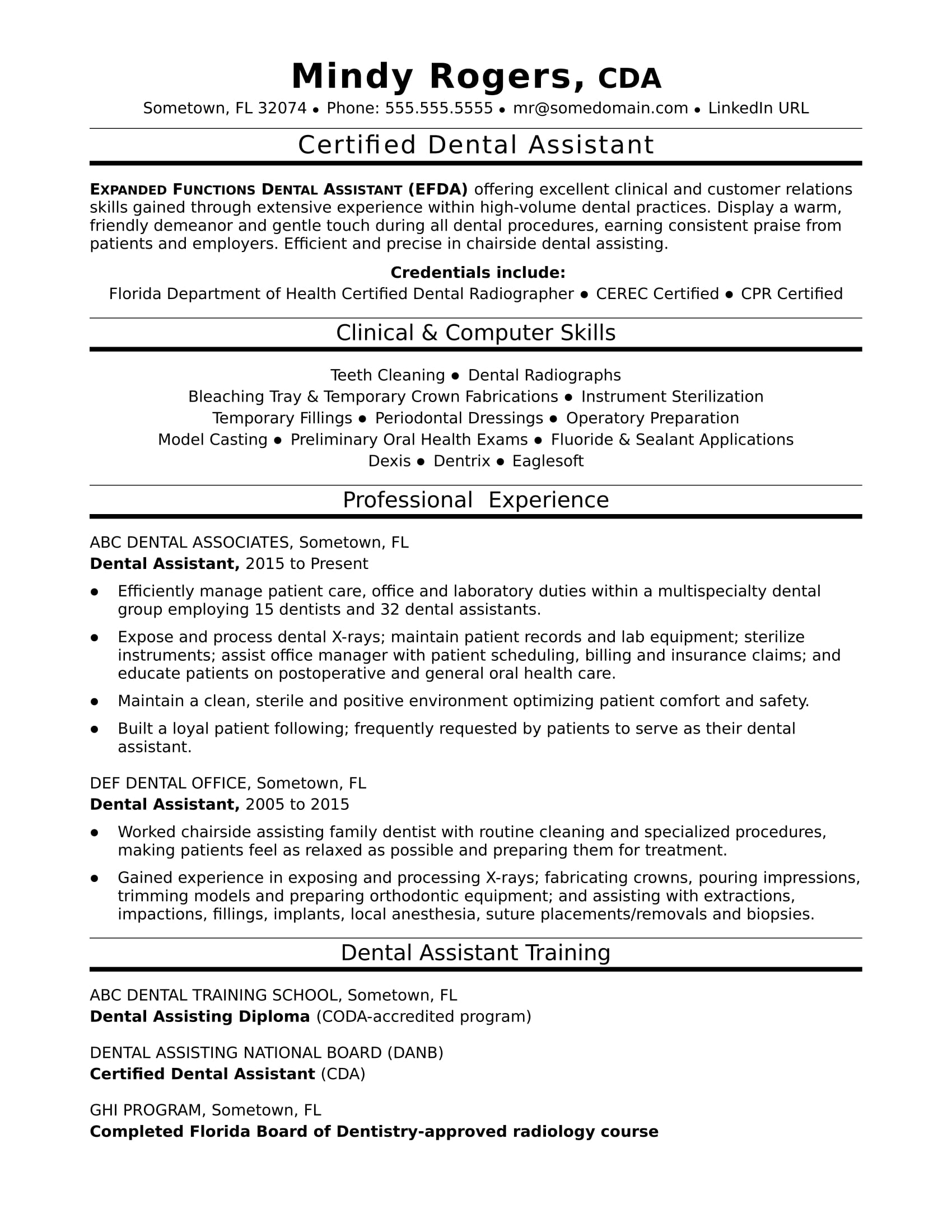 dental assistant resume sample monster possible skills for dunkin donuts crew member job Resume Possible Skills For Resume