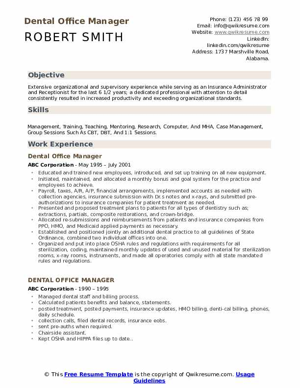 dental office manager resume samples qwikresume operations pdf skills on for non cdl Resume Dental Operations Manager Resume