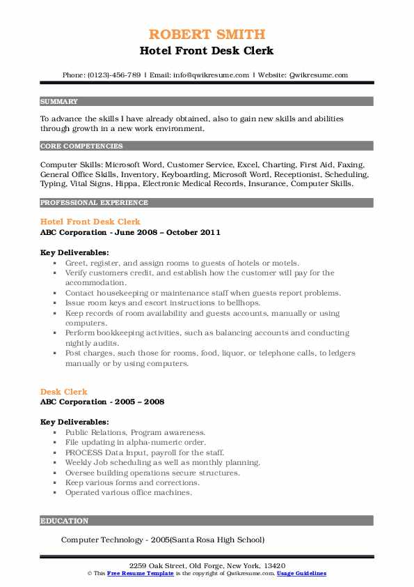 desk clerk resume samples qwikresume front duties for pdf event coordinator sample psg Resume Front Desk Clerk Duties For Resume