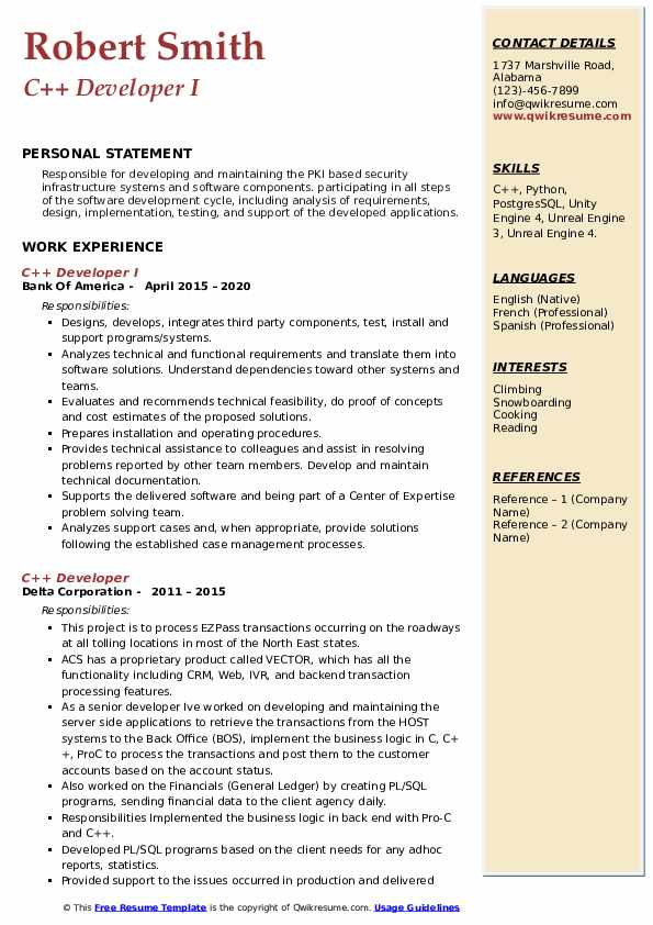 developer resume samples qwikresume projects for pdf entry level electronic technician Resume C++ Projects For Resume
