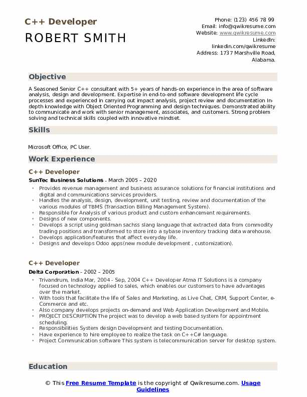 developer resume samples qwikresume projects for pdf florist sample have someone make Resume C++ Projects For Resume