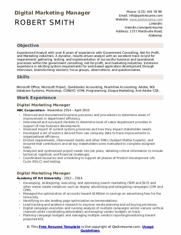 digital marketing manager resume samples qwikresume pdf global experience received Resume Marketing Manager Resume