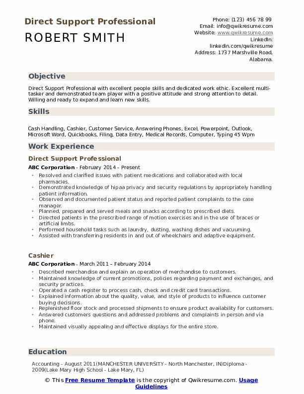 direct support professional resume samples qwikresume examples pdf bcg example infosys Resume Direct Support Professional Resume Examples