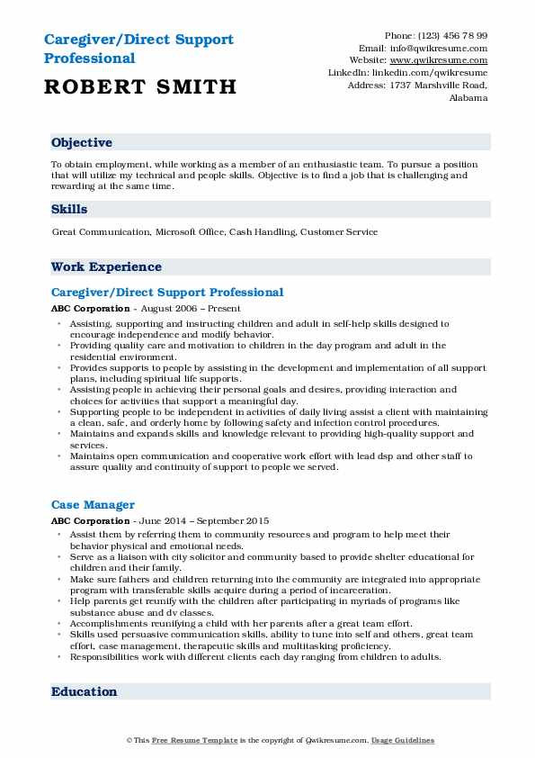 direct support professional resume samples qwikresume examples pdf with ojt experience Resume Direct Support Professional Resume Examples