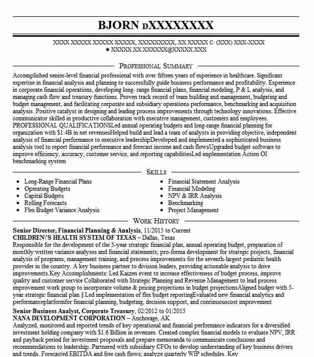 director financial planning and analysis resume example cosi restaurants inc mount Resume Financial Planning And Analysis Resume