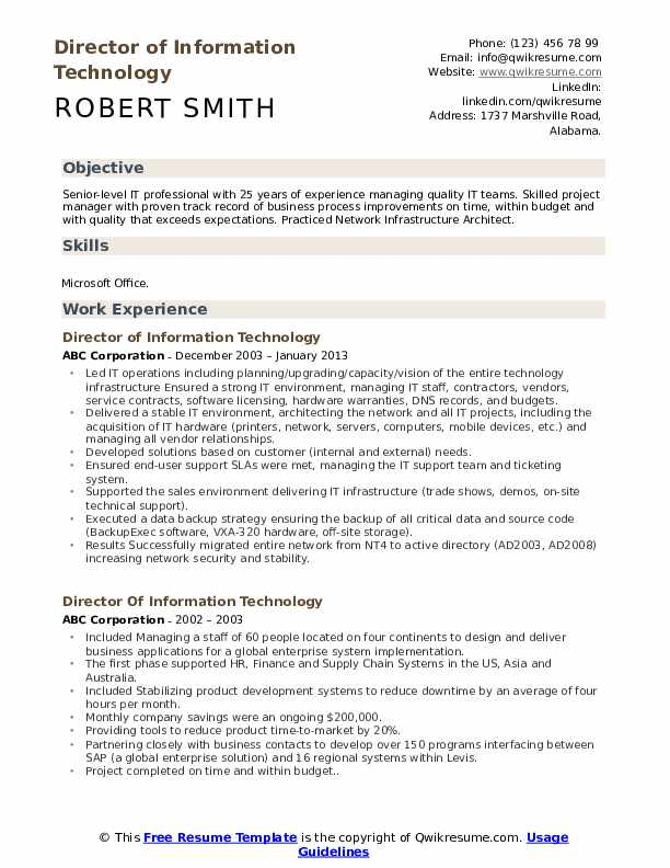 director of information technology resume samples qwikresume for voice process pdf Resume Resume For Voice Process