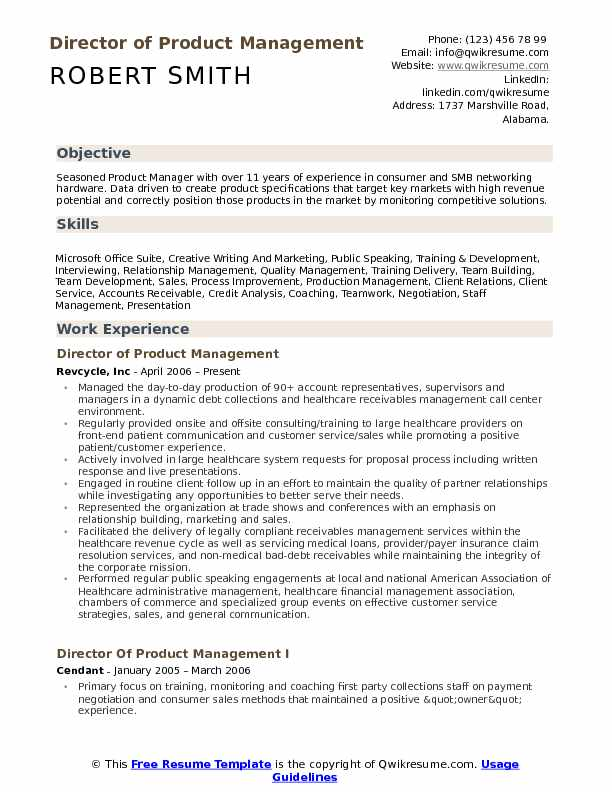 director of product management resume samples qwikresume manager template pdf dog trainer Resume Product Manager Resume Template