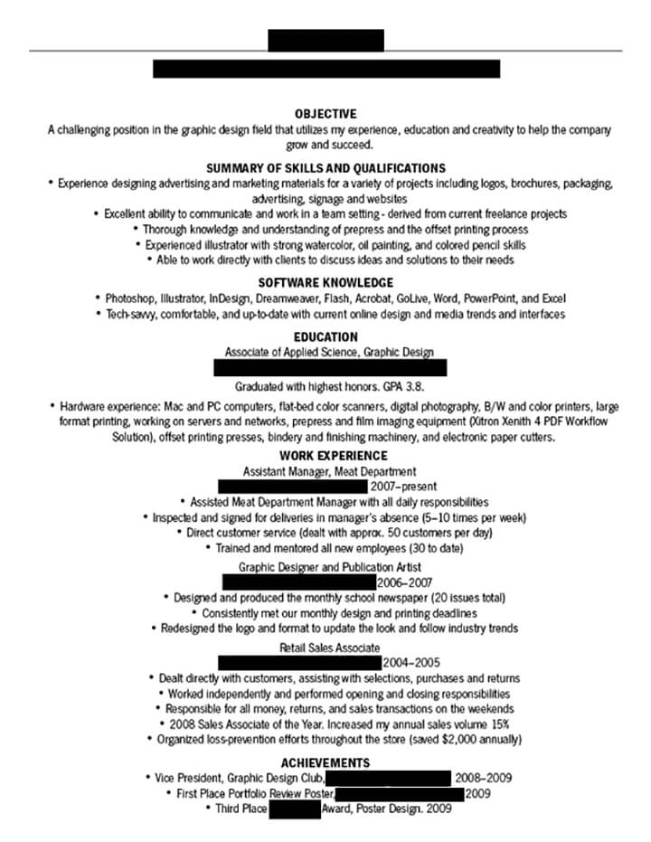 dissecting the good and resume in creative field emily examples printable automation Resume Bad Resume Examples Printable