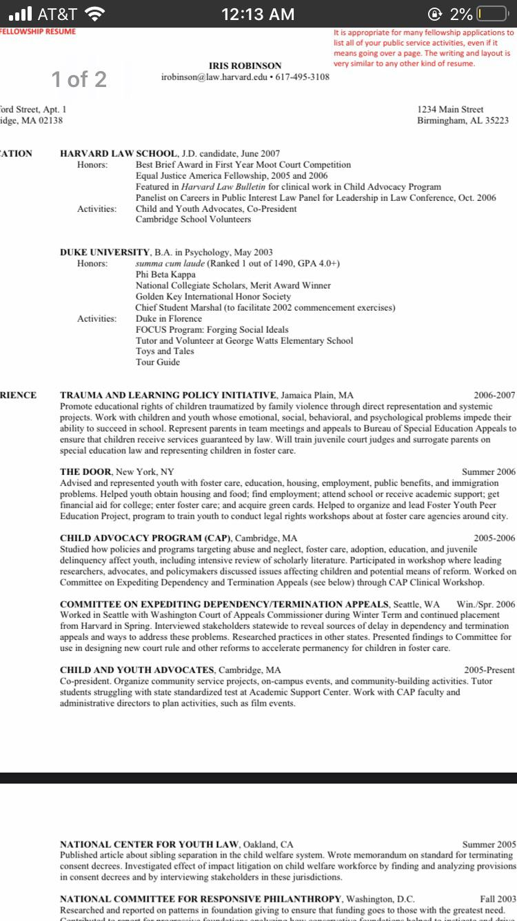 does this sample from harvard law look weird to anyone else should copy it since is after Resume High School Resume For Harvard