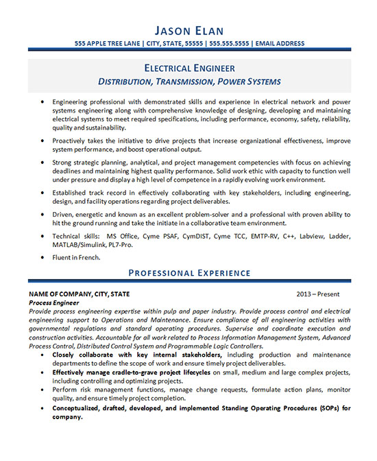 electrical engineer resume example system engineer1 sample pharmacy technician Resume Electrical Power System Engineer Resume