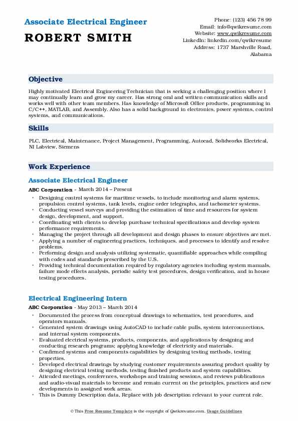electrical engineer resume samples qwikresume system pdf the muse templates style advisor Resume Electrical Power System Engineer Resume