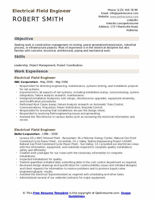 electrical field engineer resume samples qwikresume piping pdf science research sap data Resume Piping Field Engineer Resume