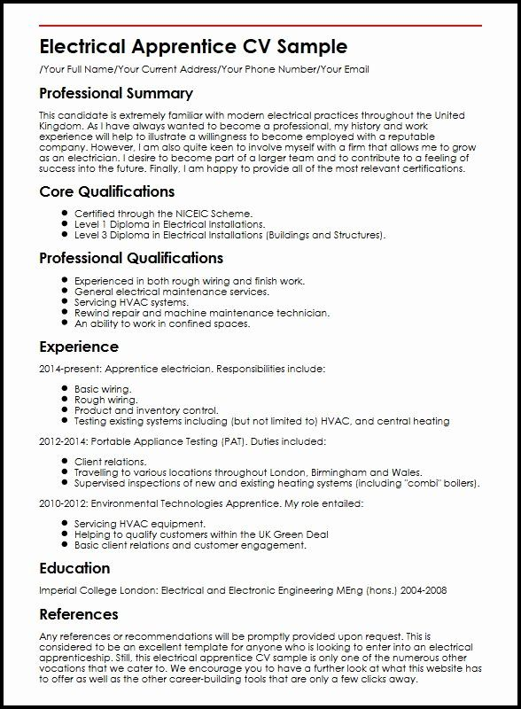electrician apprentice resume no experience printable template in engineering examples Resume Electrician Apprentice Resume