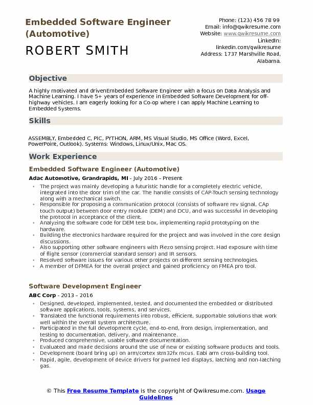 embedded software engineer resume samples qwikresume projects for pdf make better Resume C++ Projects For Resume