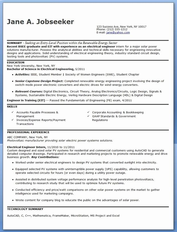 engineer in training resume awesome electrical sample pdf entry level engineering Resume Entry Level Systems Engineer Resume