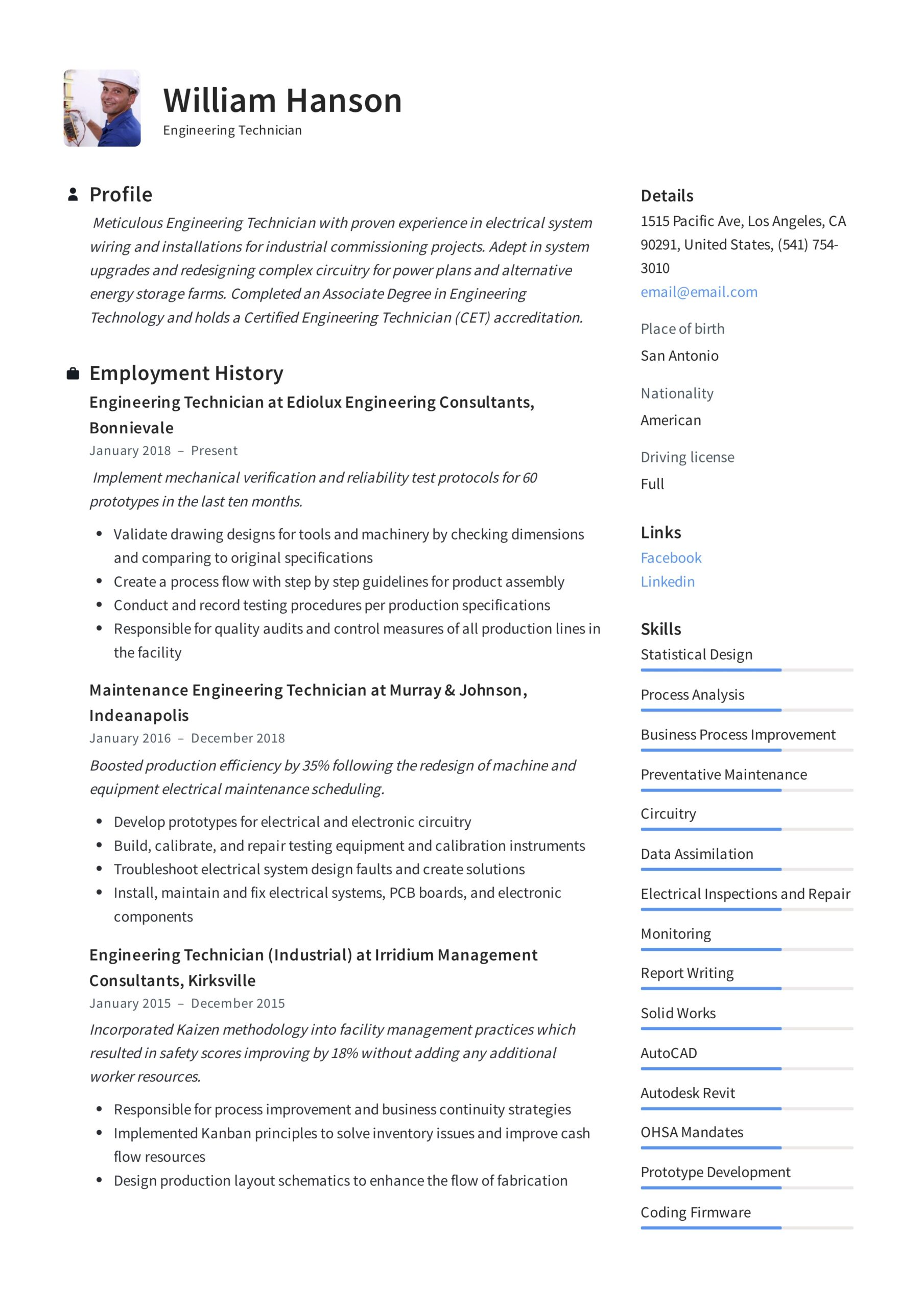 engineering technician resume writing guide templates electronic template rasmussen Resume Electronic Technician Resume Template
